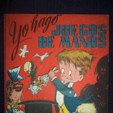 Libros de segunda mano: YO HAGO JUEGOS DE MANOS EDITORIAL DUCAN LIBRO CON MOVIMIENTO TODOS LOS MECANISMOS FUNCIONAN POP UP. Lote 177464178