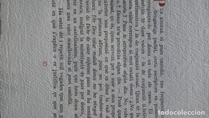 Libros de segunda mano: Converses filologiques Pompeu Fabra París 1946 - Foto 3 - 177474894