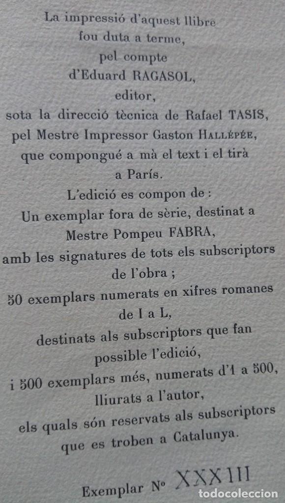 Libros de segunda mano: Converses filologiques Pompeu Fabra París 1946 - Foto 5 - 177474894