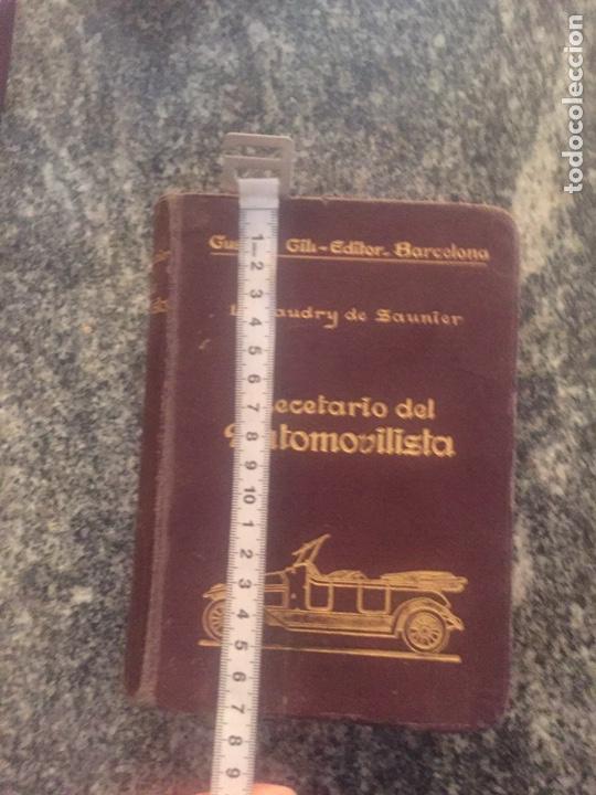 Libros de segunda mano: Recetario del automovilista - Foto 12 - 177490353