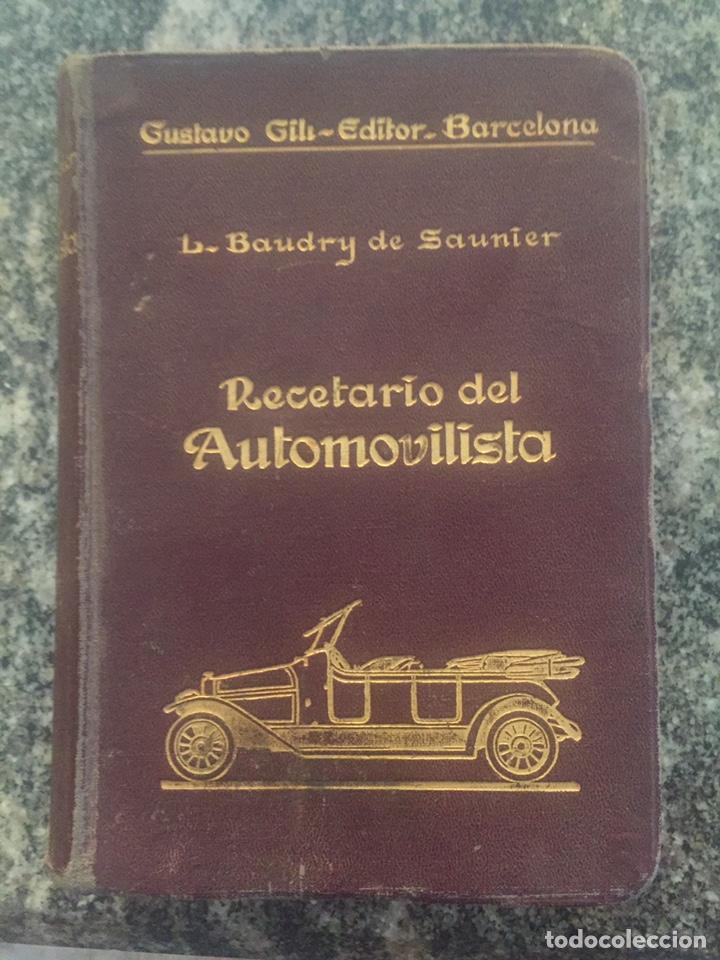 RECETARIO DEL AUTOMOVILISTA (Libros de Segunda Mano - Ciencias, Manuales y Oficios - Otros)