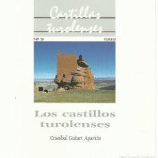 Libros de segunda mano: CRISTÓBAL GUITART : LOS CASTILLOS TUROLENSES. (CARTILLAS TUROLENSES, 1999) . Lote 177509267