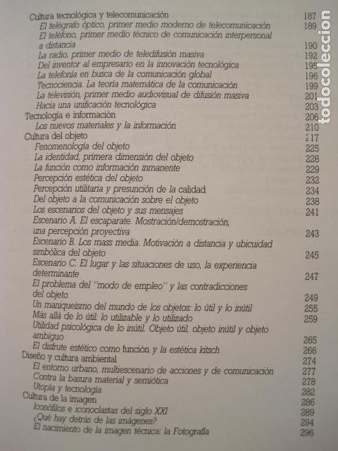Libros de segunda mano: DISEÑO, COMUNICACIÓN Y CULTURA. JOAN COSTA. PREMIO FUNDESCO DE ENSAYO. COLECCIÓN IMPACTOS. 1994. - Foto 8 - 177612168