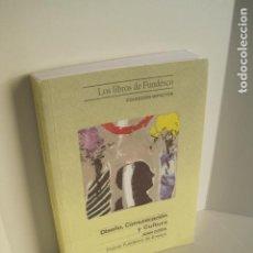 Libros de segunda mano: DISEÑO, COMUNICACIÓN Y CULTURA. JOAN COSTA. PREMIO FUNDESCO DE ENSAYO. COLECCIÓN IMPACTOS. 1994.. Lote 177612168
