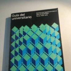 Libros de segunda mano: GUÍA DEL UNIVERSITARIO. Lote 177666657