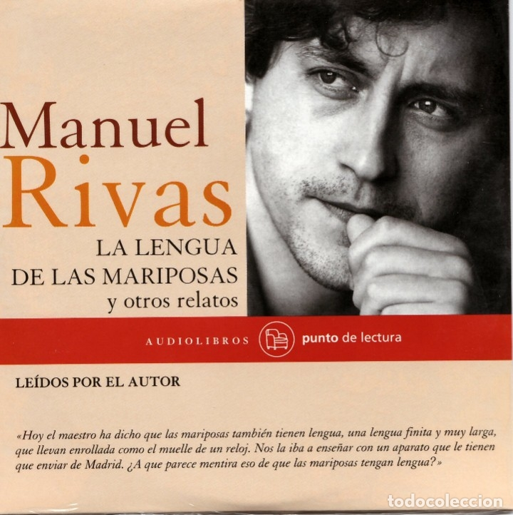 MANUEL RIVAS. LA LENGUA DE LAS MARIPOSAS Y OTROS RELATOS. AUDIOLIBRO. NUEVO. (Libros de Segunda Mano - Pensamiento - Otros)