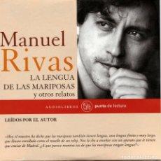 Libros de segunda mano: MANUEL RIVAS. LA LENGUA DE LAS MARIPOSAS Y OTROS RELATOS. AUDIOLIBRO. NUEVO.. Lote 177676319