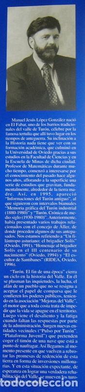 Libros de segunda mano: TURON. EL FIN DE UNA EPOCA - MANUEL JESUS LOPEZ GONZALEZ - Foto 4 - 194234331