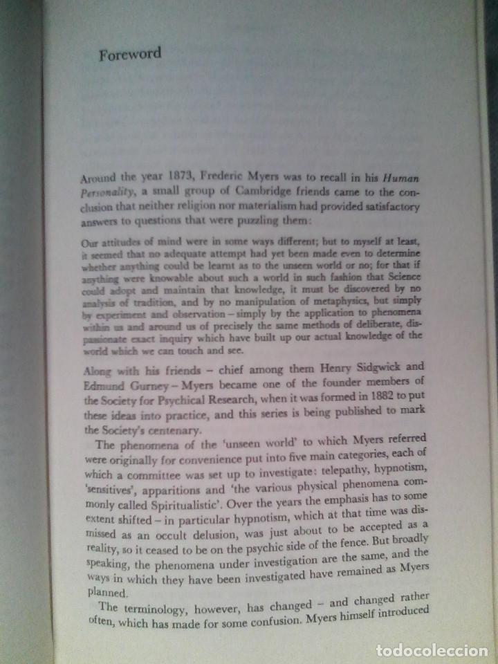 Libros de segunda mano: Blackmore, Susan - Beyond the Body / VIAJE ASTRAL, PARAPSICOLOGÍA, PARANORMAL / - Foto 7 - 53524610