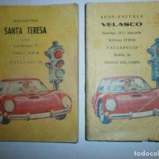 Libros de segunda mano: LECCIONES Y SEÑALES DE TRAFICO 2 LIBROS AUTOESCUELAS DE VALLADOLID ANTIGUOS. Lote 177706713