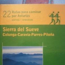 Livros em segunda mão: RUTAS PARA CAMINAR POR ASTURIAS; SIERRA DEL SUEVE, COLUNGA-CARAVIA-PARRES-PILOÑA. Lote 177729547
