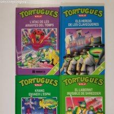 Libros de segunda mano: TORTUGUES NINJA 5 6 7 8 - 4 LIBROS EN CATALÁN - MULTILIBRO - TMNT TORTUGAS NINJA. Lote 177737568