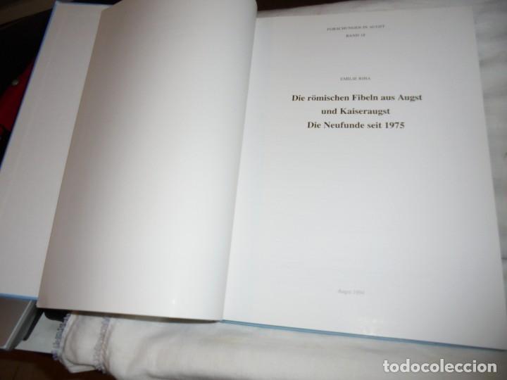 Libros de segunda mano: DIE ROMISCHEN FIBELN AUS AUGST UND KAISERAUGST.(LAS FIBLAS RUMAS DE OJO Y EMPERADOR).EMILIE RIHA.199 - Foto 2 - 177749208