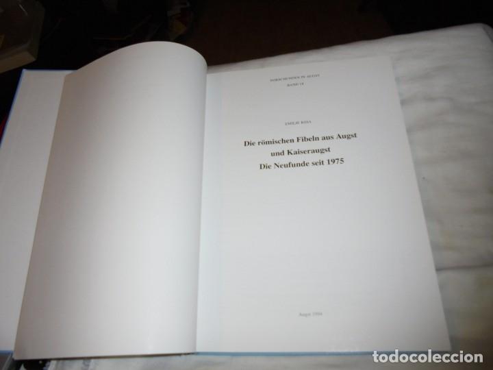Libros de segunda mano: DIE ROMISCHEN FIBELN AUS AUGST UND KAISERAUGST.(LAS FIBLAS RUMAS DE OJO Y EMPERADOR).EMILIE RIHA.199 - Foto 3 - 177749208