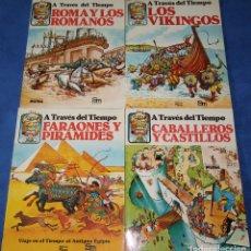 Libros de segunda mano: A TRAVÉS DEL TIEMPO - ROMANOS - FARAONES - CABALLEROS - VIKINGOS - PLESA - SM EDICIONES (1982). Lote 177758024