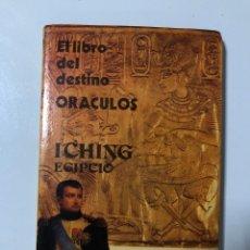 Libros de segunda mano: ORACULOS. EL LIBRO DEL DESTINO. ICHING EGIPCIO. MACONDO EDICIONES. BUENOS AIRES, 1980. PAGS: 62. Lote 177779187
