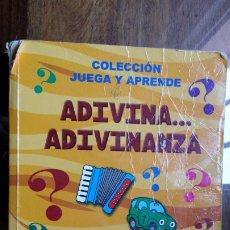 Libros de segunda mano: ADIVINA ADIVINANZA, COLECCION JUEGA Y APRENDE. Lote 177789710