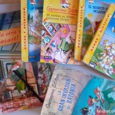 Libros de segunda mano: LOTE GERONIMO STILTON - TOCALA MOZART, INVASION RATONIA Y MÁS. Lote 177796337