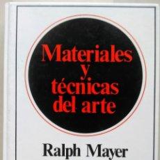 Libros de segunda mano: MATERIALES Y TECNICAS DEL ARTE RALPH MAYER HERMANN BLUME 1993. Lote 177738798