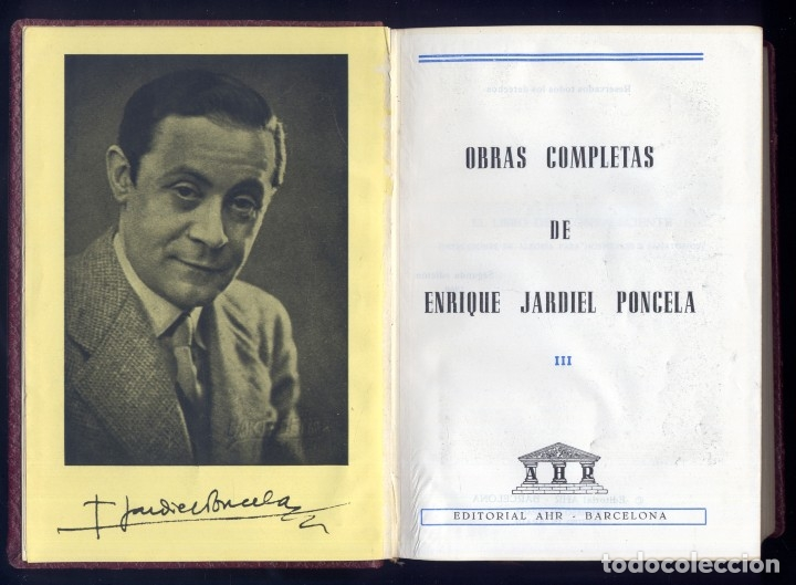 Libros de segunda mano: JARDIEL PONCELA, E. Obras Completas. III: El libro del convaleciente; Exceso de equipaje... 1960. - Foto 2 - 177864372