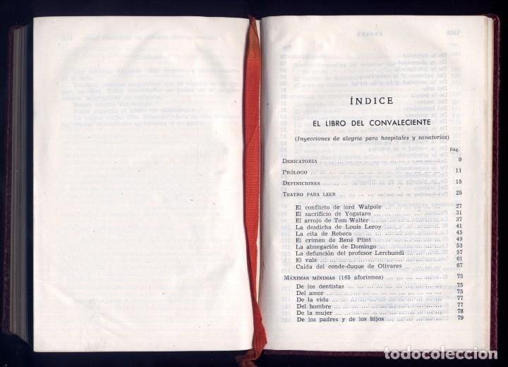 Libros de segunda mano: JARDIEL PONCELA, E. Obras Completas. III: El libro del convaleciente; Exceso de equipaje... 1960. - Foto 3 - 177864372