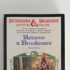 Libros de segunda mano: RETORNO A BROOKMERE DUNGEONS&DRAGONS 4 LIBROJUEGO ROSE ESTES. Lote 177938710