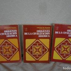 Libros de segunda mano: ORIGENES DE LA CIVILIZACIÓN ADÁMICA - DE TROHADE,SISEDON, ( SE TRATA DE 3 TOMOS ). Lote 177946482