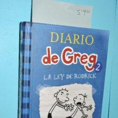 Libros de segunda mano: DIARIO DE GREG 2: LA LEY DE RODRICK. KINNEY, JEFF. ED. RBA. BARCELONA 2012. 14ªEDICIÓN. Lote 178024655