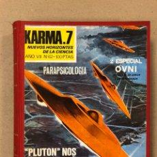 Libros de segunda mano: KARMA-7 (AÑO 1978 COMPLETO). LOTE DE 12 REVISTAS RECOPILADAS EN 1 TOMO. DEL N° 62 AL 73.. Lote 178104167