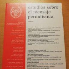 Libros de segunda mano: ESTUDIOS SOBRE EL MENSAJE PERIODÍSTICO VOL. 8 (2002) UNIVERSIDAD COMPLUTENSE DE MADRID. Lote 178147078