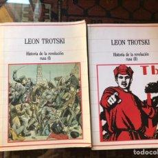 Libros de segunda mano: LEÓN TROTSKI. HISTORIA DE LA REVOLUCIÓN RUSA I Y II. BUEN ESTADO. Lote 194943308
