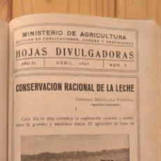 Libros de segunda mano: MINISTERIO AGRICULTURA HOJAS DIVULGADORAS. Lote 178203967