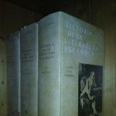 Libros de segunda mano: HISTORIA DE LA LITERATURA ESPAÑOLA, JUAN LUIS ALBORG, EDITORIAL GREDOS, 3 TOMOS. Lote 194534756