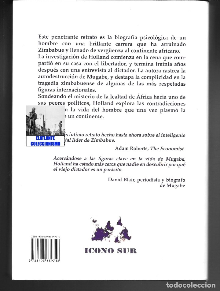 Libros de segunda mano: CENANDO CON ROBERT MUGABE HISTORIA NUNCA CONTADA DEL LIBERTADOR TIRANO - HEIDI HOLLAND - ZIMBABUE - Foto 6 - 178031508