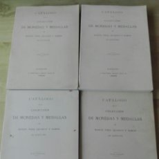 Libros de segunda mano: CUATRO TOMOS CATÁLOGO DE LA COLECCIÓN DE MONEDAS Y MEDALLAS DE MANUEL VIDAL QUADRAS Y RAMÓN. Lote 178346788
