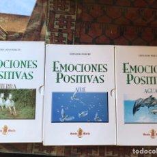 Libros de segunda mano: EMOCIONES POSITIVAS. AIRE. TIERRA. AGUA. FERNANDO PERFETTI. COMO NUEVOS. Lote 178395830