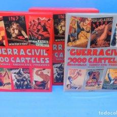 Libros de segunda mano: LA GUERRA CIVIL EN 2000 CARTELES: REPÚBLICA - GUERRA CIVIL - POSGUERRA [VOLUMES I & II] .CARULLA,. Lote 178716426