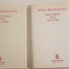 Libros de segunda mano: HISTÒRIA DEL TEATRE - TOMOS I I II - VICTOR PANDOLFI. Lote 178791701