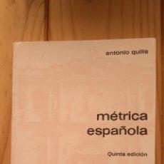Libros de segunda mano: MÉTRICA ESPAÑOLA . Lote 178860285