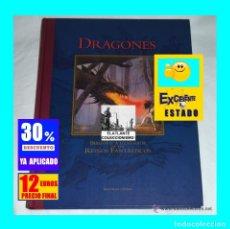 Libros de segunda mano: DRAGONES - BIBLIOTECA ILUSTRADA DE LOS REINOS FANTASTICOS - EDITORIAL ÓPTIMA - PRECIOSO. Lote 178866312
