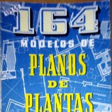 Libros de segunda mano: 25965 - 164 MODELOS DE PLANOS DE PLANTAS - POR ANSELMO RODRIGUEZ - EDICIONES CEAC - AÑO 1975. Lote 178920061