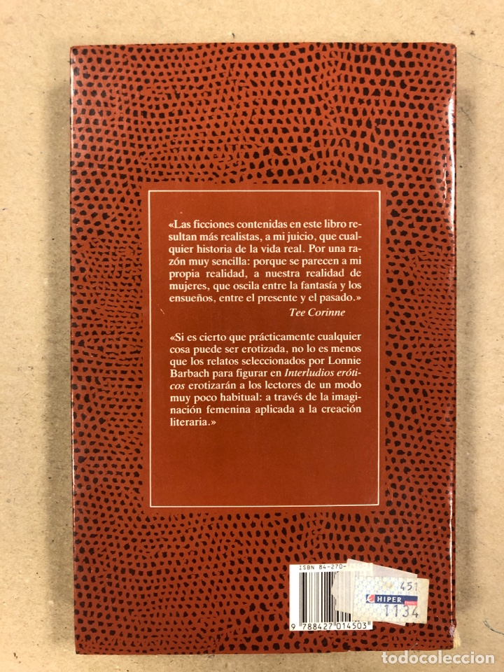 Libros de segunda mano: INTERLUDIOS ERÓTICOS, NUEVOS PLACERES. LONNIE BARBACH. LA FUENTE DE JADE NARRATIVA ERÓTICA - Foto 7 - 178939687