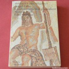 Libros de segunda mano: HISTORIA DE ESPAÑA ALFAGUARA 1 - A. CABO - CONDICIONAMIENTOS GEOGRAFICOS - EDAD ANTIGUA. Lote 178945327