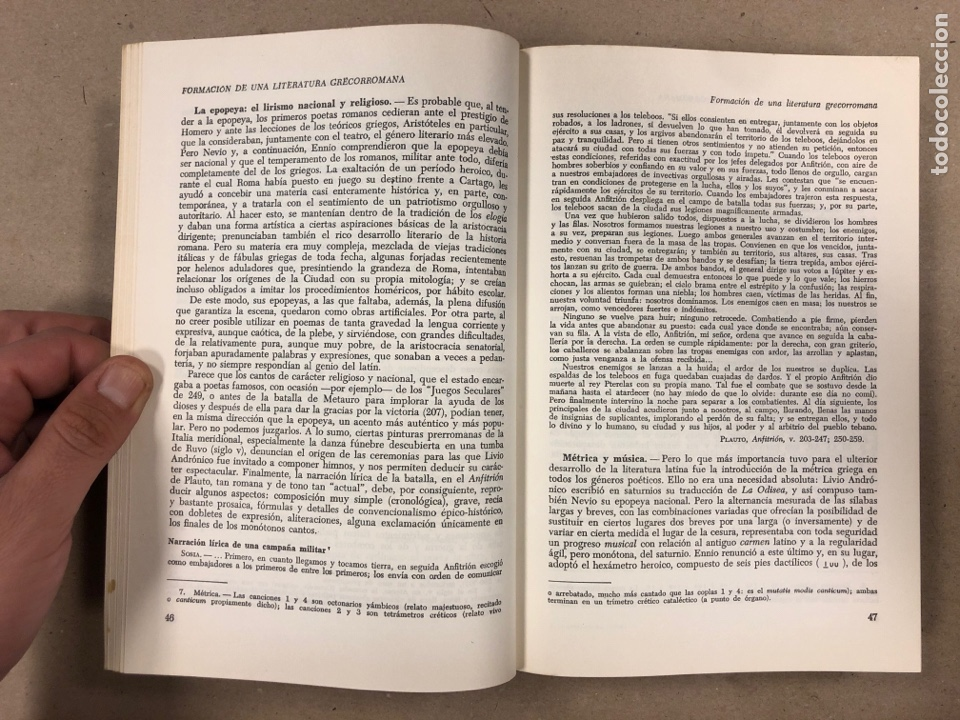 Libros de segunda mano: LITERATURA LATINA. JEAN BAYET. EDICIONES ARIEL 1972. COLECCIÓN CONVIVIUM N° 3. 567 PÁGINAS. - Foto 3 - 178955981