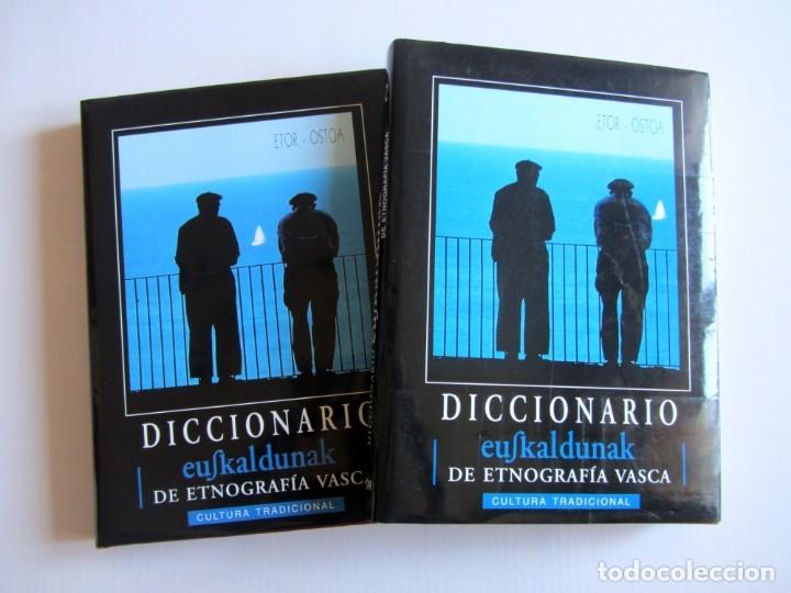 DICCIONARIO DE ETNOGRAFIA VASCA. CULTURA TRADIICONAL. EUSKALDUNAK. ETOR-OSTOA 1999 2 TOMOS. COMPLETA (Libros de Segunda Mano - Ciencias, Manuales y Oficios - Otros)