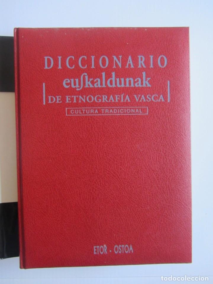 Libros de segunda mano: Diccionario de etnografia vasca. Cultura tradiiconal. Euskaldunak. Etor-Ostoa 1999 2 tomos. Completa - Foto 4 - 178965657
