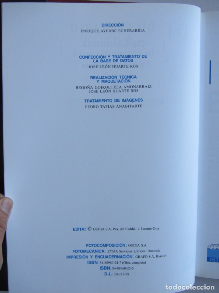 Libros de segunda mano: Diccionario de etnografia vasca. Cultura tradiiconal. Euskaldunak. Etor-Ostoa 1999 2 tomos. Completa - Foto 8 - 178965657