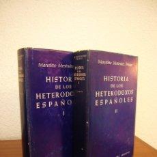 Libros de segunda mano: MARCELINO MENÉNDEZ PELAYO: HISTORIA DE LOS HETERODOXOS ESPAÑOLES I Y II. OBRA COMPLETA (BAC, 1978). Lote 179035262
