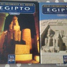 Libros de segunda mano: ATLAS CULTURALES DEL MUNDO , EGIPTO ( 2 VOL.) FOLIO .. Lote 179037058