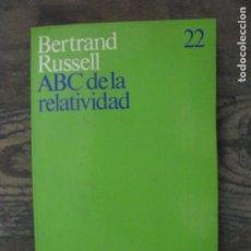 Libros de segunda mano: ABC DE LA RELATIVIDAD, RUSSELL. Lote 179037151